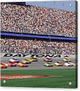 Crowd At Car Race Acrylic Print