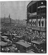 Crowd At Wrigley During World Series Acrylic Print