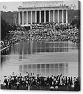 Crowd Of People Attending A Civil Rights Acrylic Print