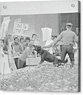 Crowd Protesting President Nixon Acrylic Print