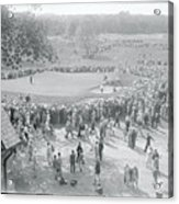 Crowd Watching Bobby Jones During Golf Acrylic Print