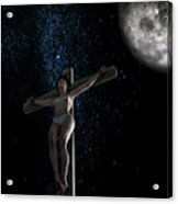Crucifiction Surreal Acrylic Print