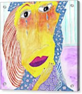 Crying Diamonds Acrylic Print
