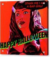 Custom Halloween Card She-devil Acrylic Print