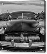 Customized 1950 Mercury In Bw Acrylic Print