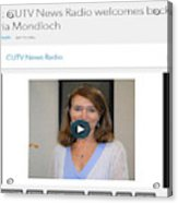 Cutv News Radio Welcomes Back Dr. Victoria Mondloch Acrylic Print