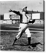 Cy Young Boston Wind Up Acrylic Print