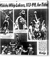 Daily News Back Page Dated May 9, 1970 Acrylic Print