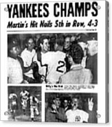 Daily News Back Page Dated Oct. 6, 1953 Acrylic Print