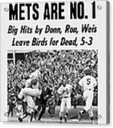 Daily News Front Page October 17, 1969 Acrylic Print