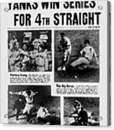 Daily News Front Page October 9, 1939 Acrylic Print
