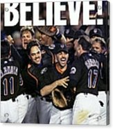 Daily News Front Page Of Wrap, Believe Acrylic Print
