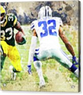 Dallas Cowboys Against Green Bay Packers. Acrylic Print