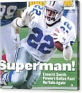 Dallas Cowboys Emmitt Smith, Super Bowl Xxviii Sports Illustrated Cover Acrylic Print