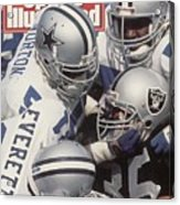 Dallas Cowboys Ken Norton Jr And Thomas Everett Sports Illustrated Cover Acrylic Print