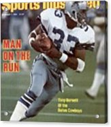Dallas Cowboys Tony Dorsett... Sports Illustrated Cover Acrylic Print