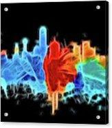 Dallas Neon Color Blast Acrylic Print