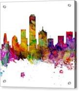 Dallas Texas Skyline Panoramic Acrylic Print