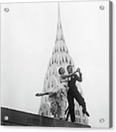 Dancing By The Chrysler Building Acrylic Print