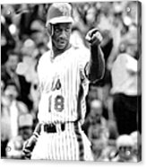 Darryl Strawberry Of The New York Mets Acrylic Print