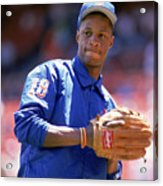 Darryl Strawberry  Throws The Ball Acrylic Print