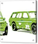 Datsun 510 Comic Strip Acrylic Print