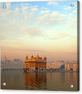 Dawn At The Golden Temple, Amritsar Acrylic Print