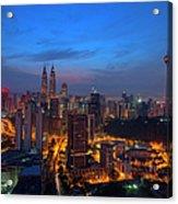 Dawn Of A New Day In Kuala Lumpur Acrylic Print