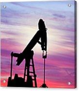 Dawn Over Gasoline Pump Acrylic Print