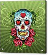 Day Of The Dead Skull Acrylic Print