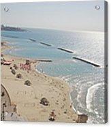 Day View Of Tel Aviv Promenade And Beach Acrylic Print