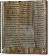 Dead Sea Scroll Acrylic Print
