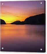 Deception Pass Sunset Serenity Acrylic Print