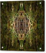 Deep Jungle Temple With Lanterns Acrylic Print