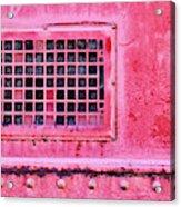 Deep Pink Train Engine Vent Acrylic Print