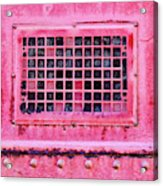Deep Pink Train Engine Vent Square Format Acrylic Print