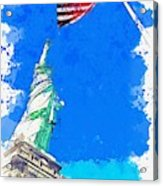 Defending Liberty Watercolor By Ahmet Asar Acrylic Print