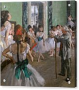 Degas, The Dance Class Detail Acrylic Print