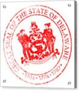 Delaware Seal Stamp Acrylic Print