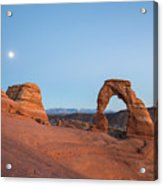 Delicate Arch During Sunset In Utah Acrylic Print