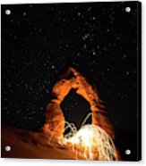 Delicate Arch Steel Wool Acrylic Print