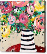 Delightful Bouquet 5- Art By Linda Woods Acrylic Print