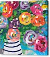 Delightful Bouquet 6- Art By Linda Woods Acrylic Print