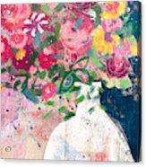 Delightful Bouquet- Art By Linda Woods Acrylic Print