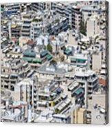 Dense Urban Areas In Athens, Greece Acrylic Print