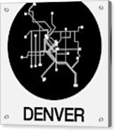 Denver Black Subway Map Acrylic Print