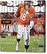 Denver Broncos Vs Pittsburgh Steelers Sports Illustrated Cover Acrylic Print