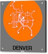 Denver Orange Subway Map Acrylic Print
