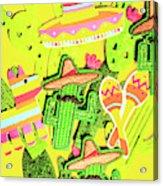 Desertly Decorated Acrylic Print