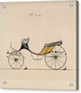 Design For Cabriolet Or Victoria, No. 3221 Brewster And Co. American, New York Acrylic Print